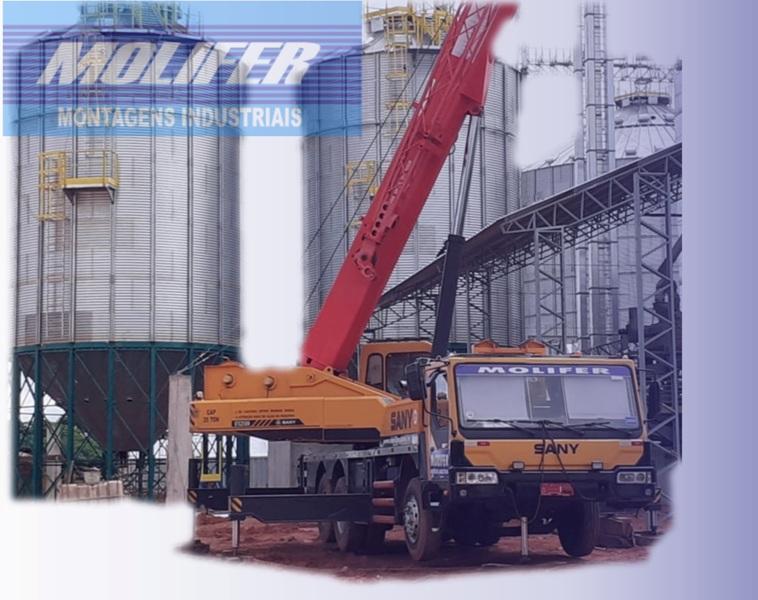Montagem de silos de graos