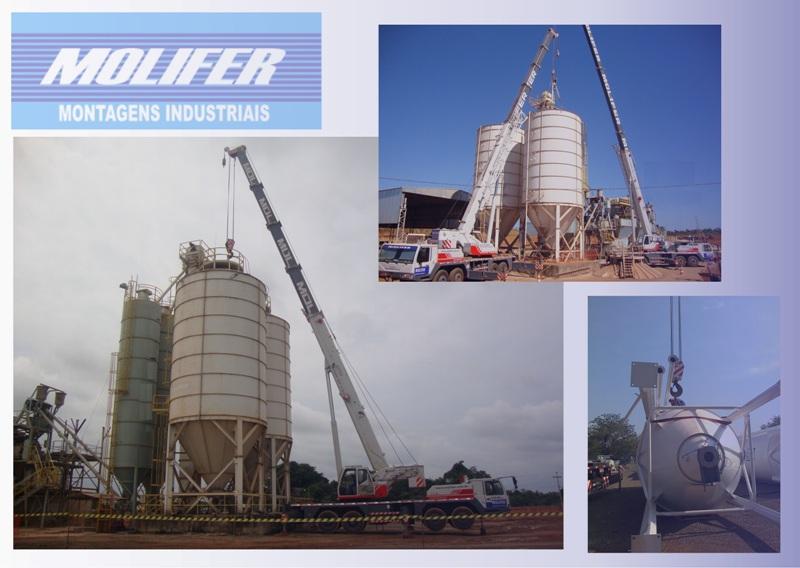 Montagem de silos metalicos