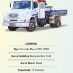 Aluguel de caminhão munck preço